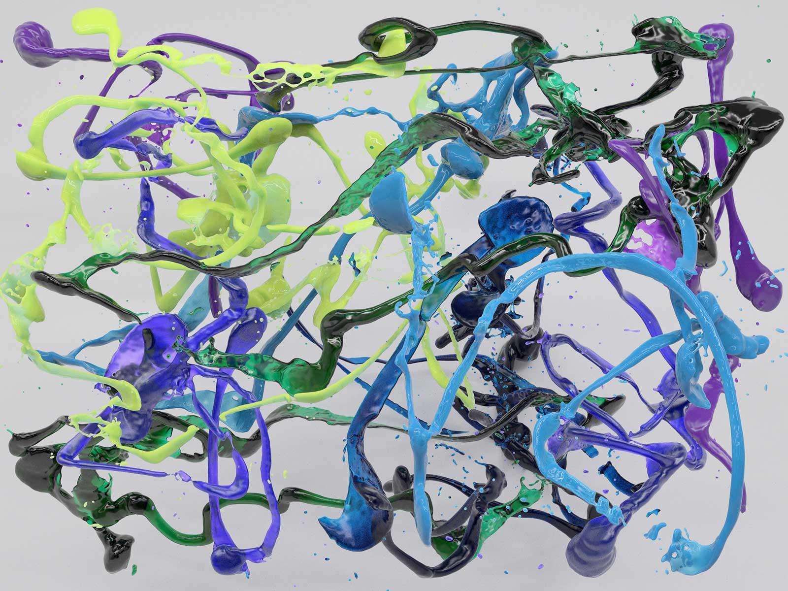 Bodypaint V 09, CGI Fine Art Print, 150 x 200 cm, 2019