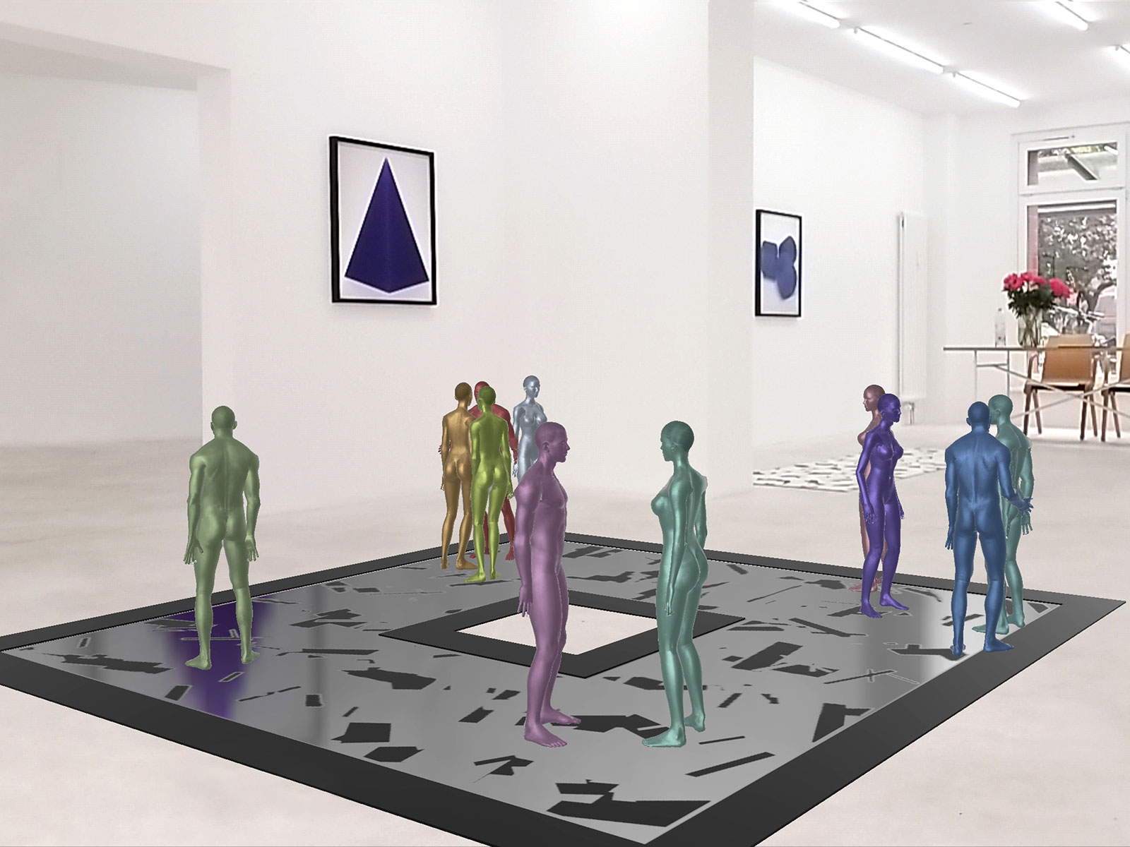 Cylinder & Bots, DAM Gallery, Exhibition View, 2019