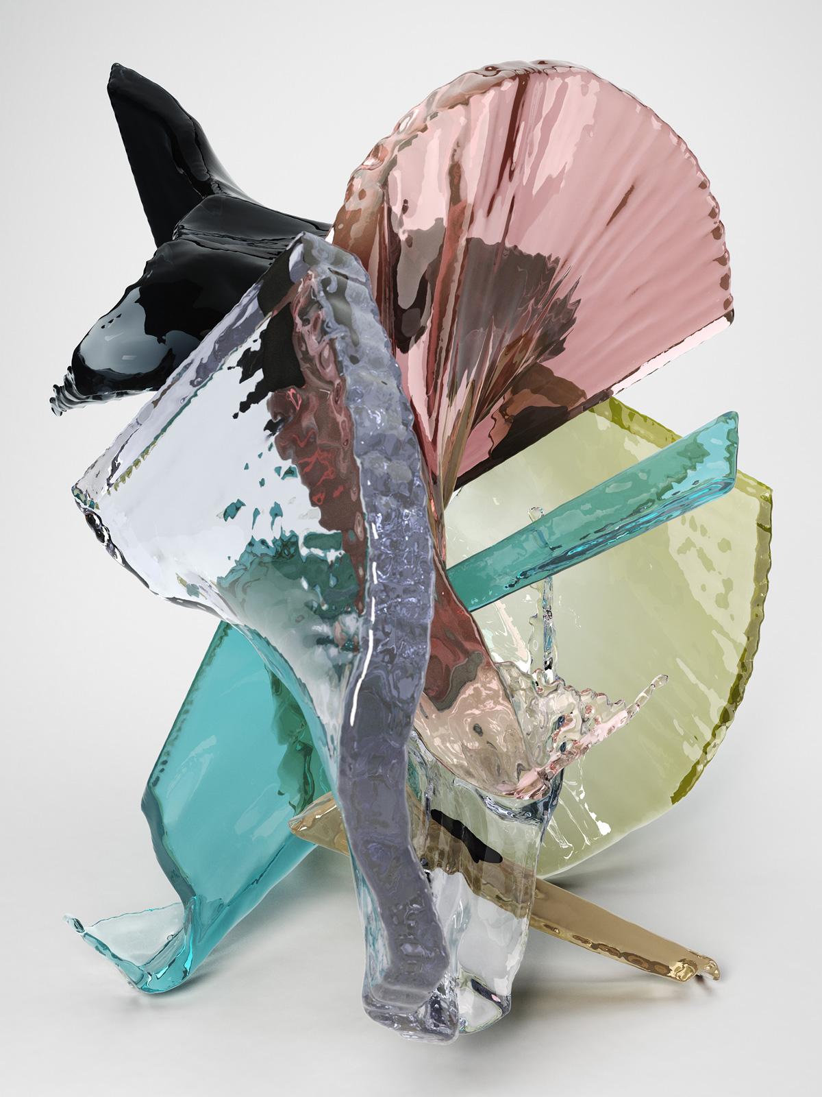Bodypaint I 02, CGI Fine Art Print, 140 x 105 cm, 2014