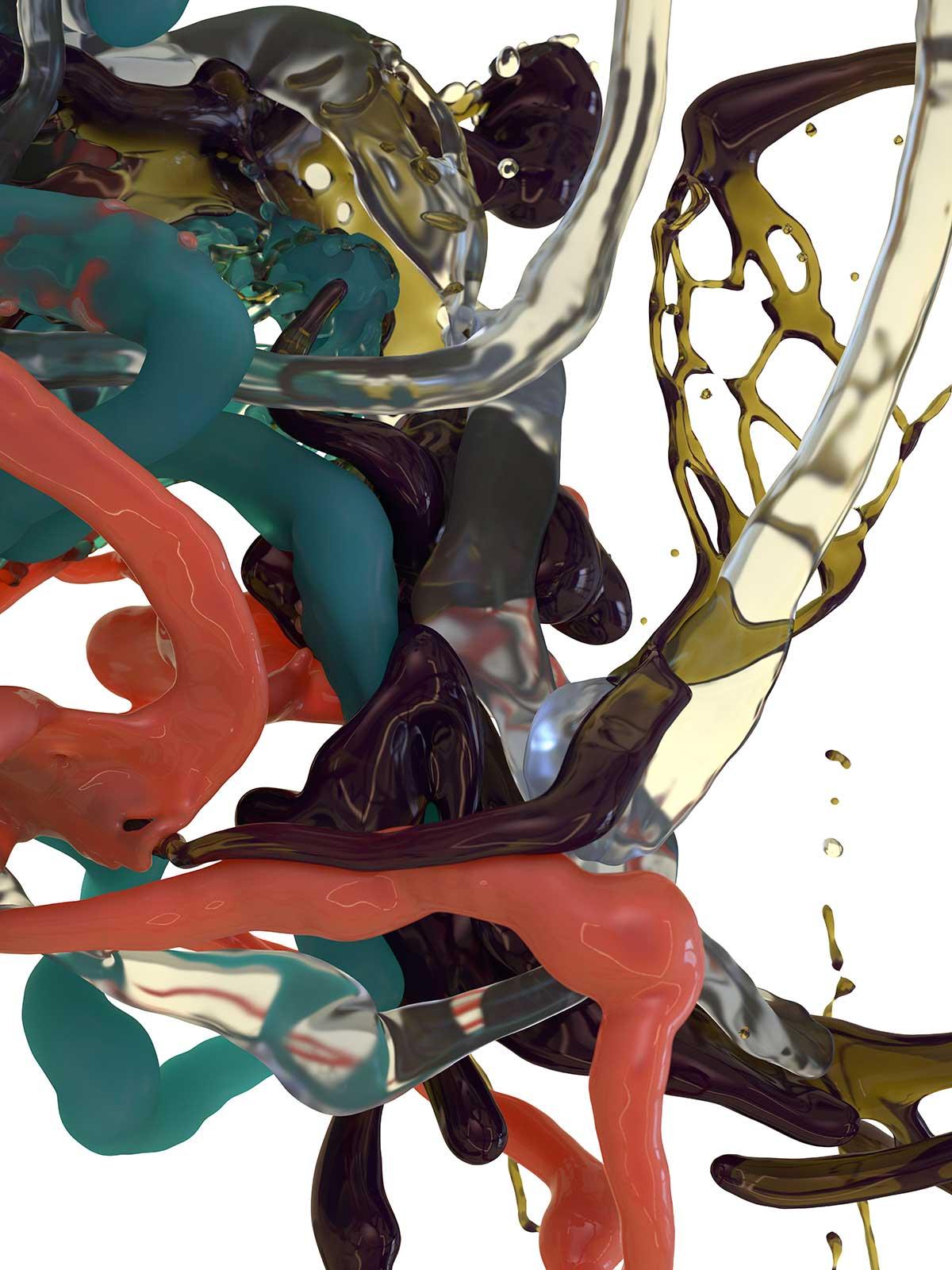 Bodypaint III 03, CGI Fine Art Print, 2016