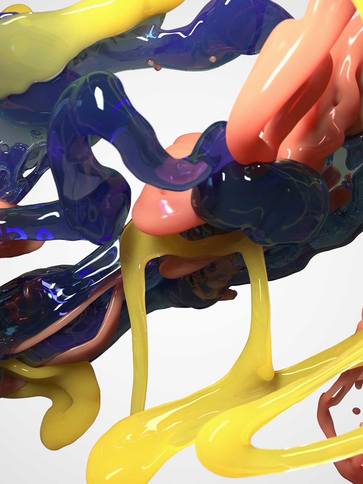 Bodypaint III 04, CGI Fine Art Print, 140 x 105 cm, 2016