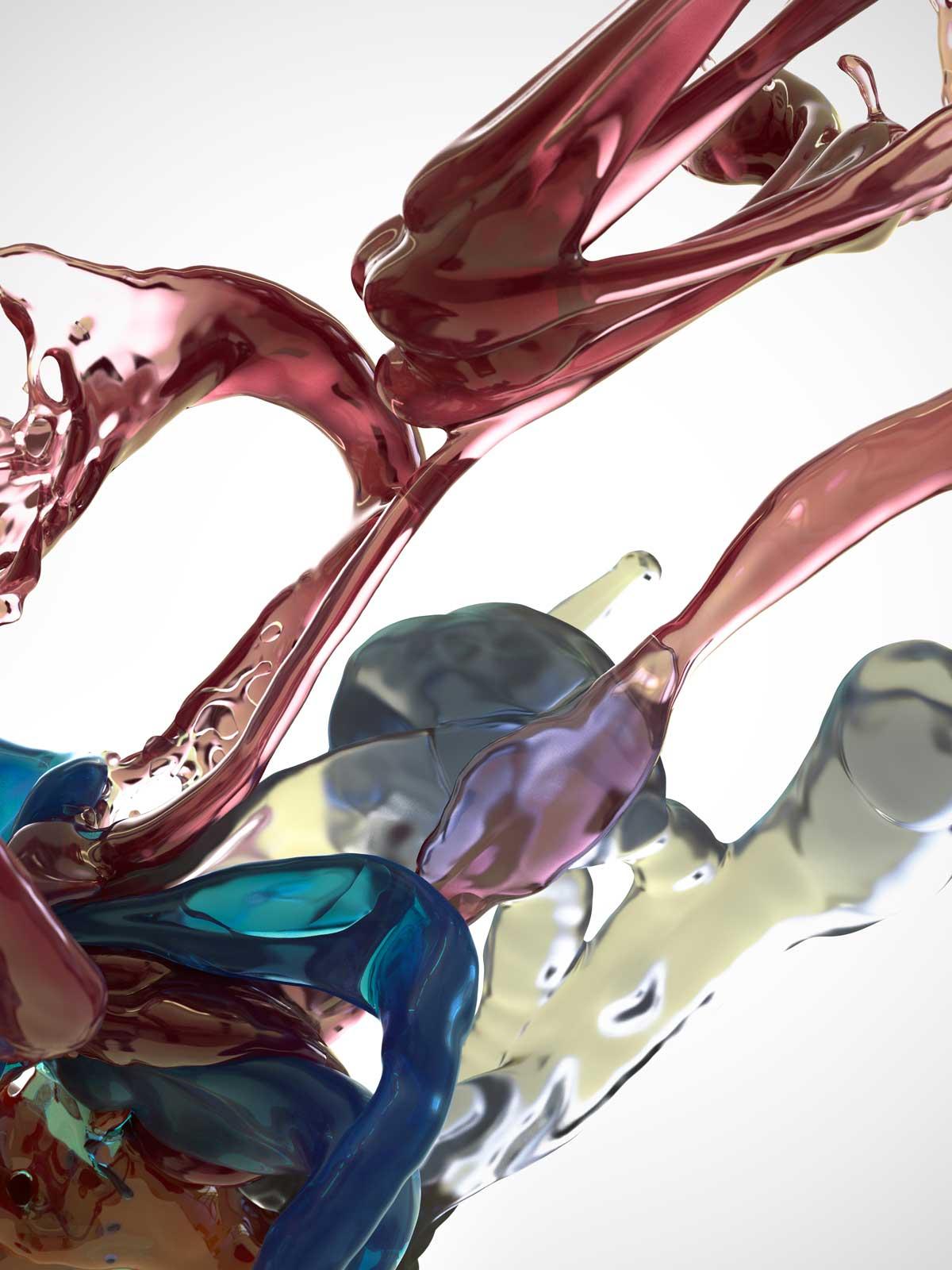 Bodypaint III 12, CGI Fine Art Print, 140 x 105 cm, 2016