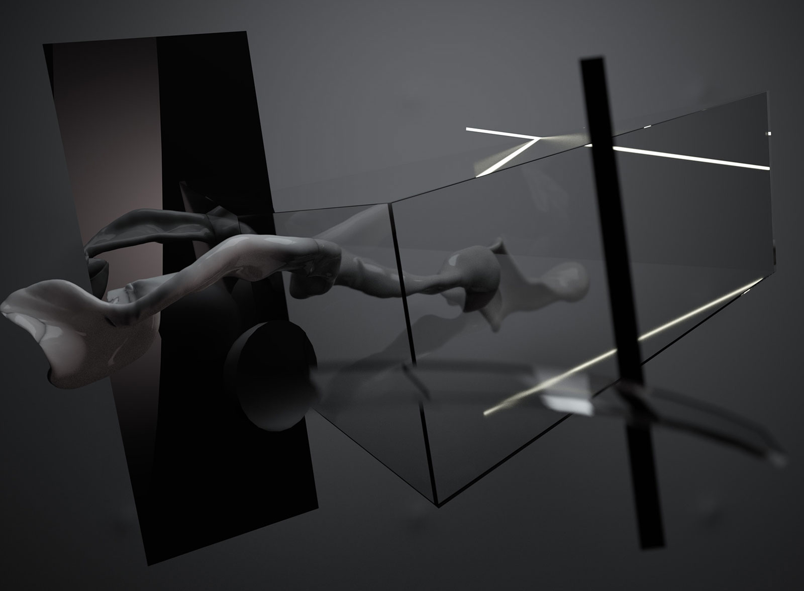 Composition II 01, CGI Fine Art Print, 101 x 135 cm, 2012