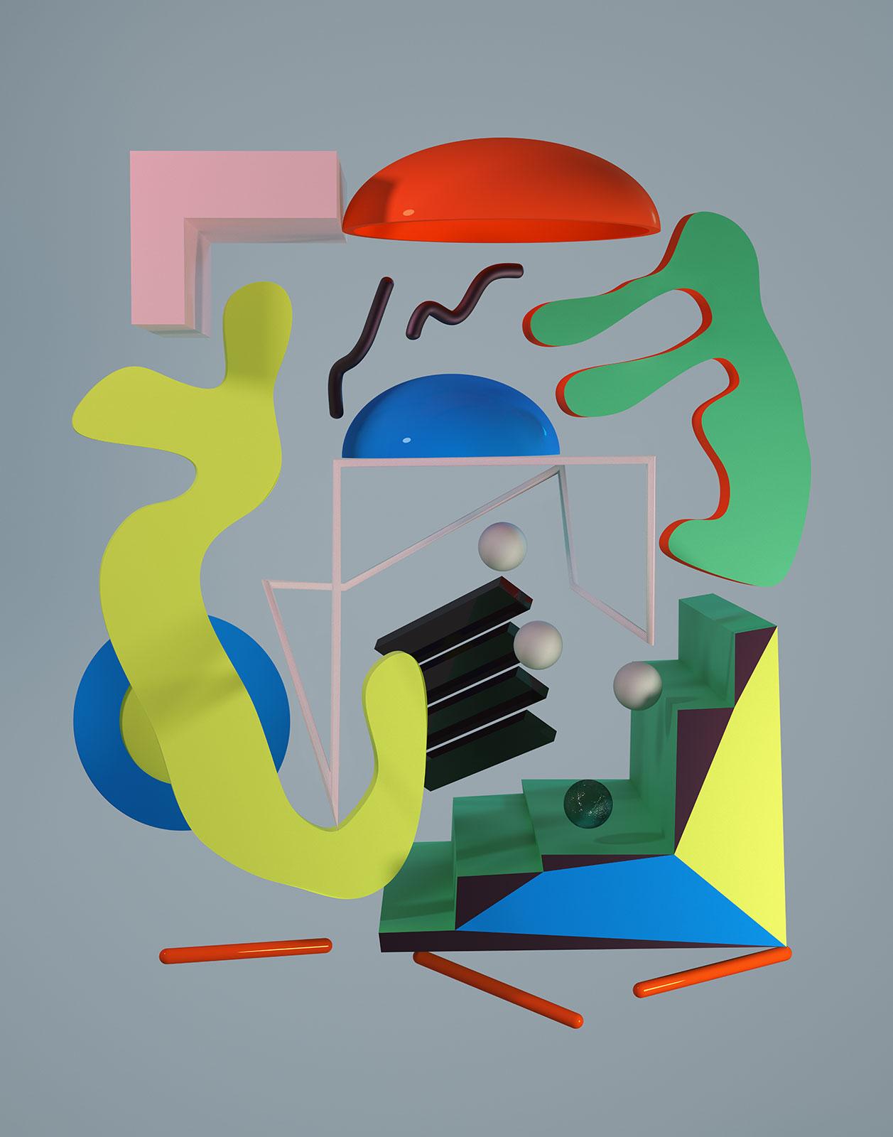 Komposition I 01, CGI Fine Art Print, 70 x 55 cm, 2012