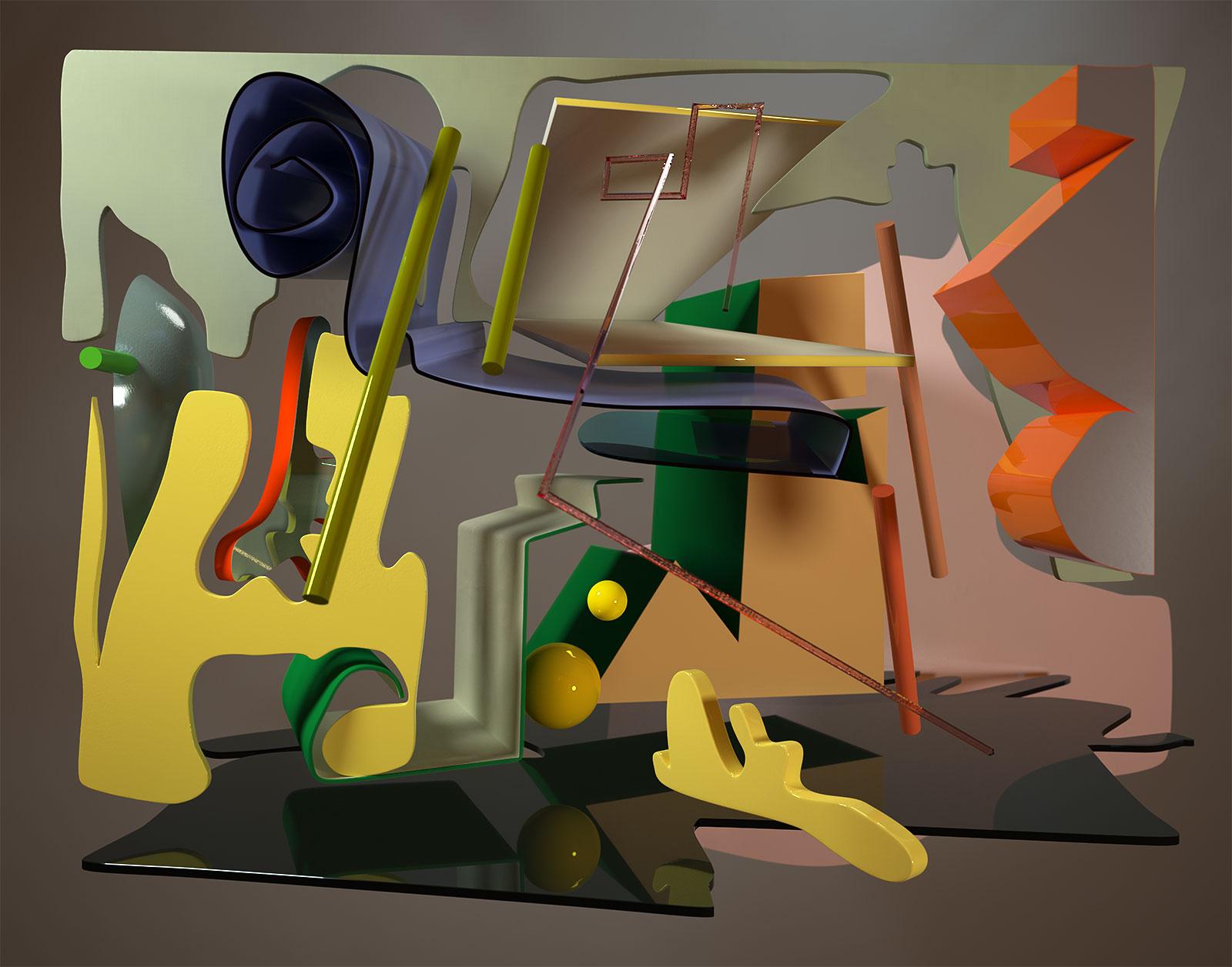 Komposition I 02, CGI Fine Art Print, 77 x 98 cm, 2012