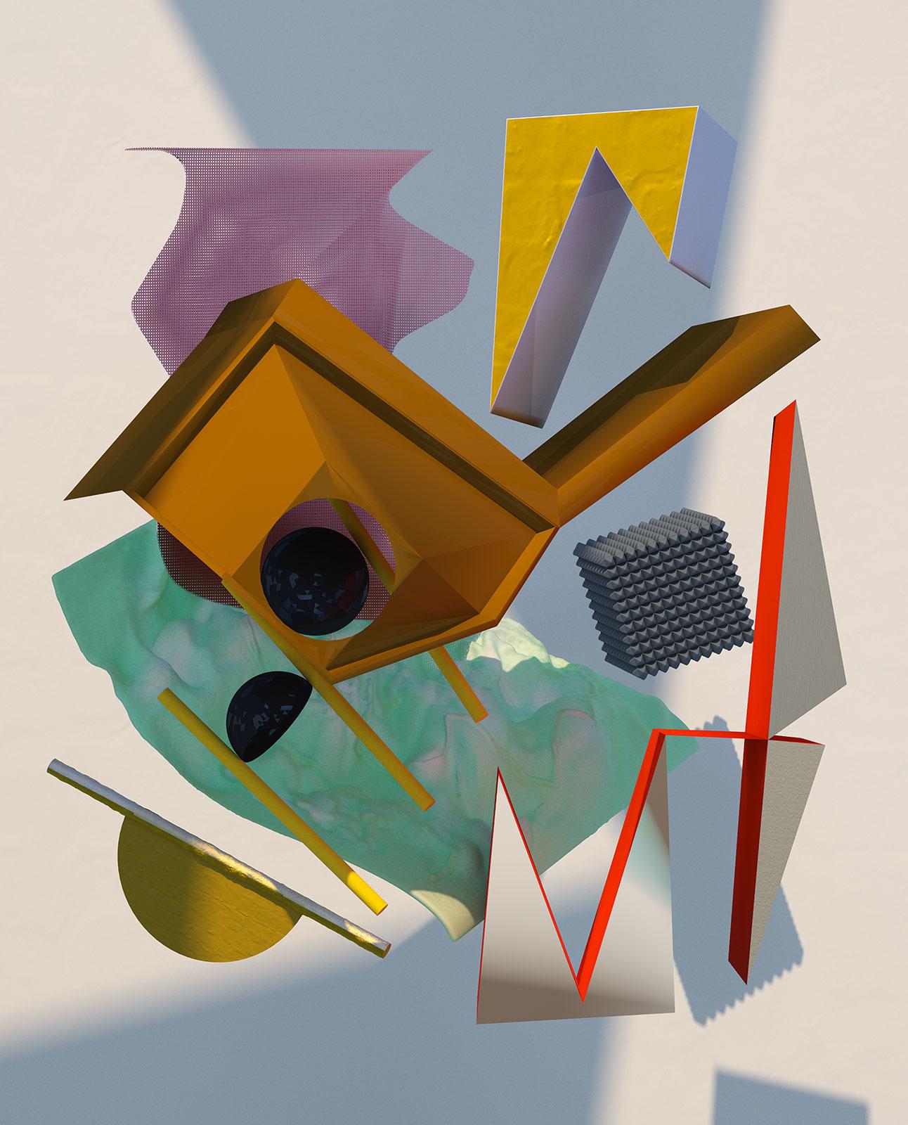 Komposition I 03, CGI Fine Art Print, 80 x 66 cm, 2012