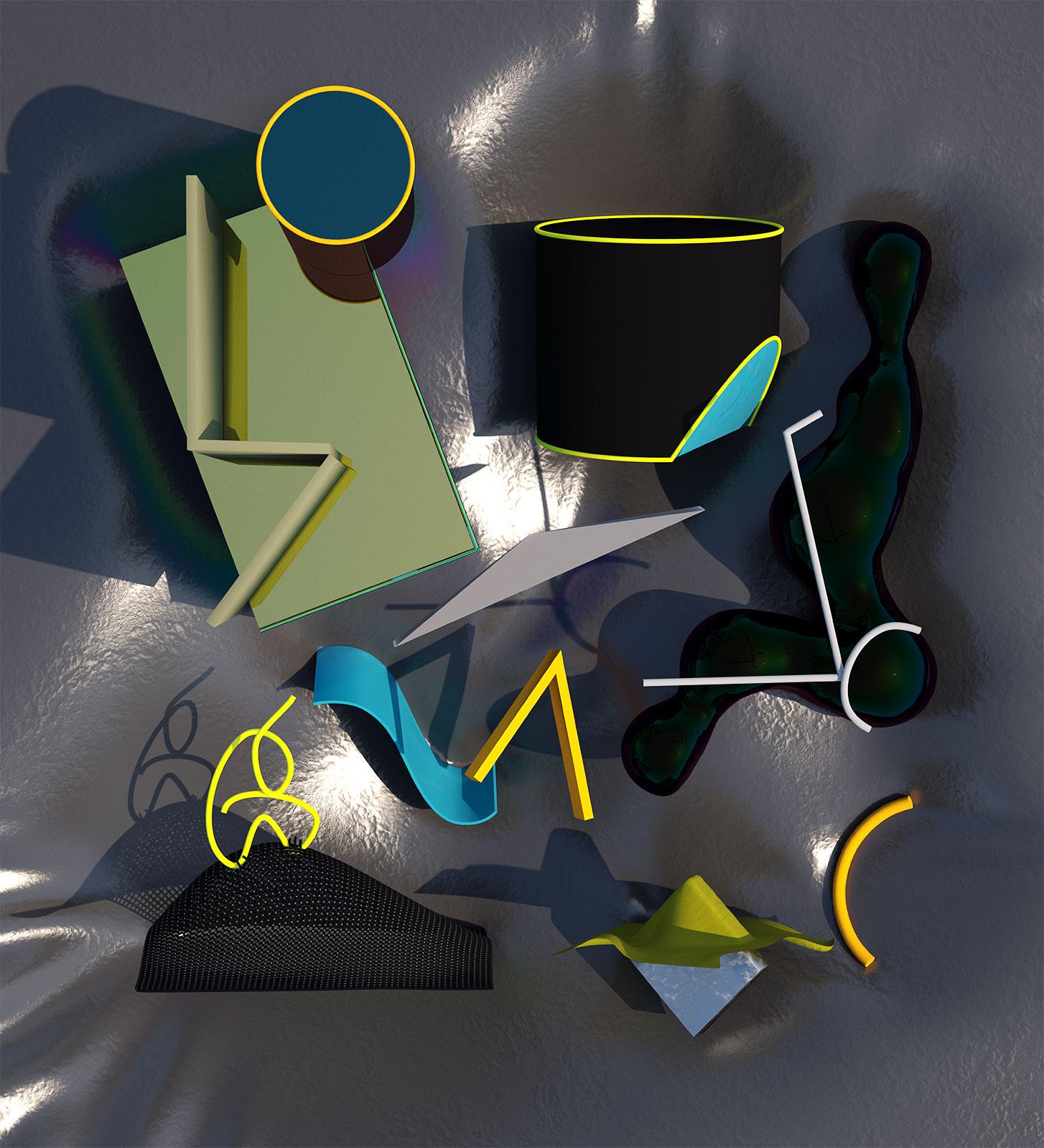 Komposition I 04, CGI Fine Art Print, 77 x 70 cm, 2012