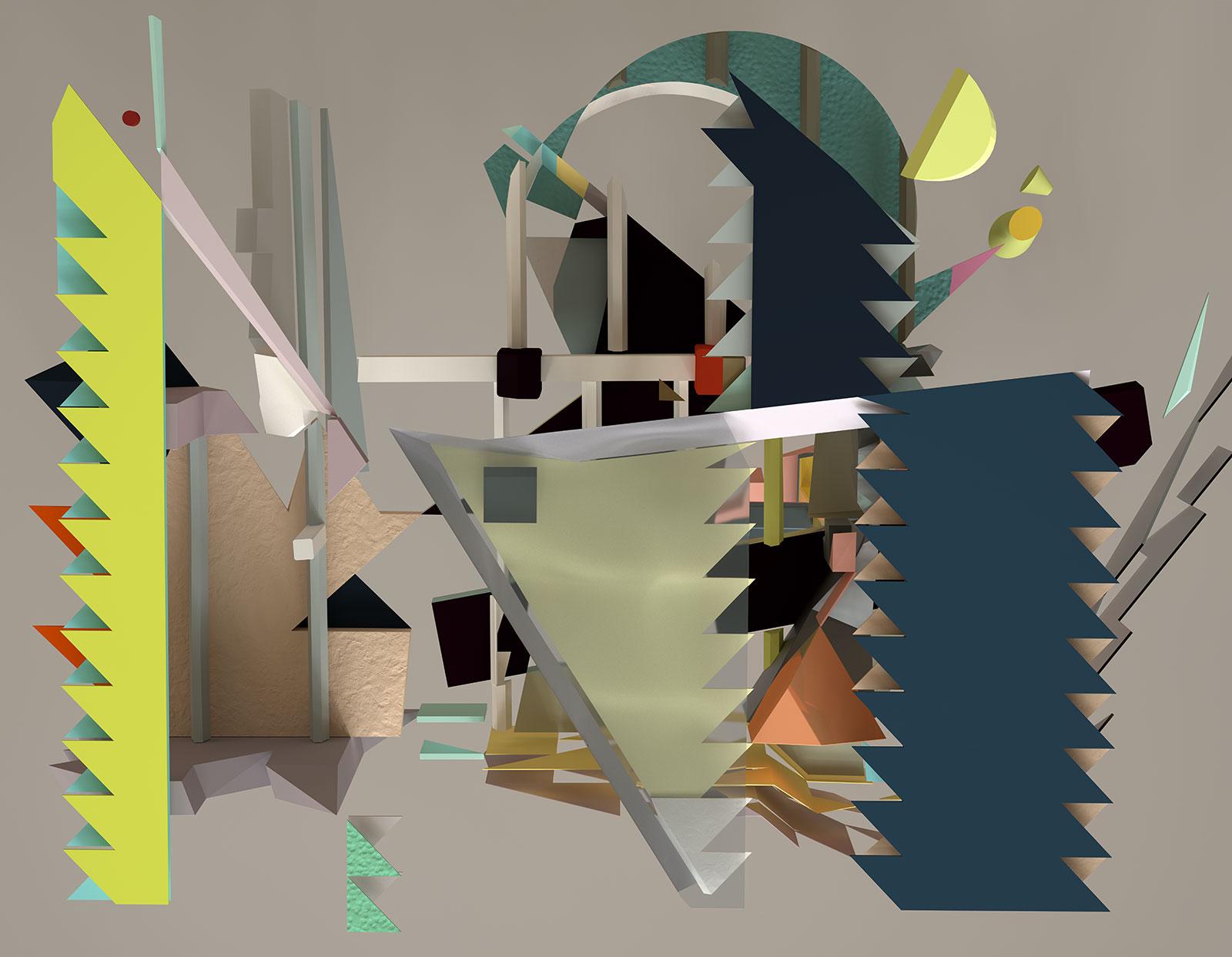 Komposition I 05, CGI Fine Art Print, 122 x 157 cm, 2012