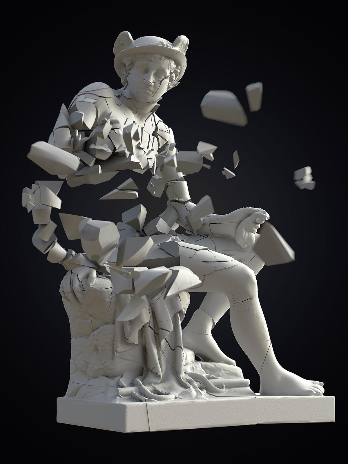 Mercury I 03, CGI Fine Art Print, 140 x 105 cm, 2018
