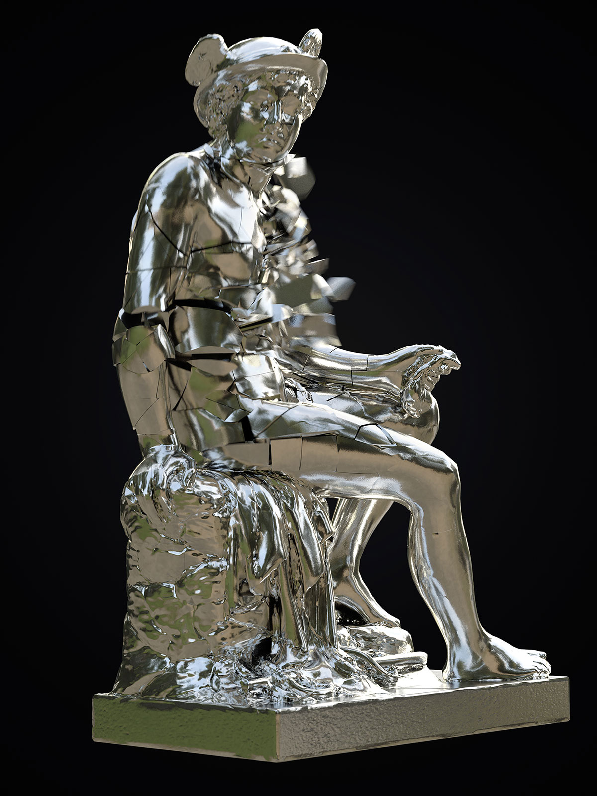 Mercury I 04, CGI Fine Art Print, 140 x 105 cm, 2018