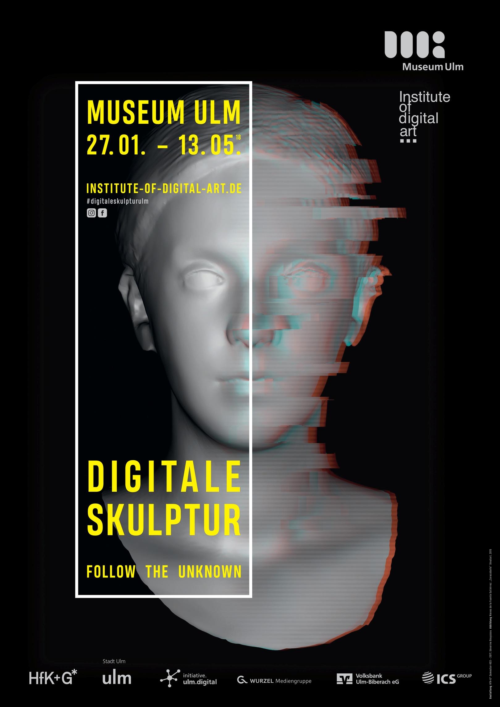 Digitale Skulptur, Museum Ulm, Plakat
