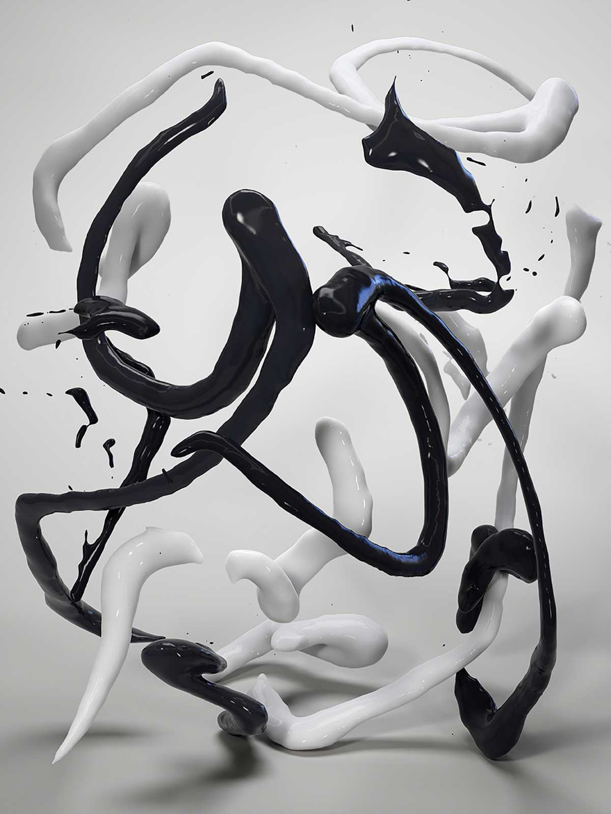 Bodypaint I 13, CGI Fine Art Print, 140 x 105 cm, 2014