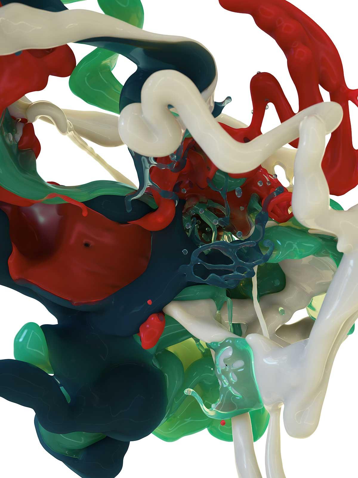 Bodypaint III 06, CGI Fine Art Print, 140 x 105 cm, 2016