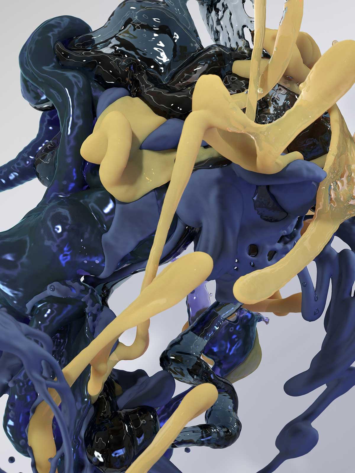 Bodypaint III 19, CGI Fine Art Print, 140 x 105 cm, 2016