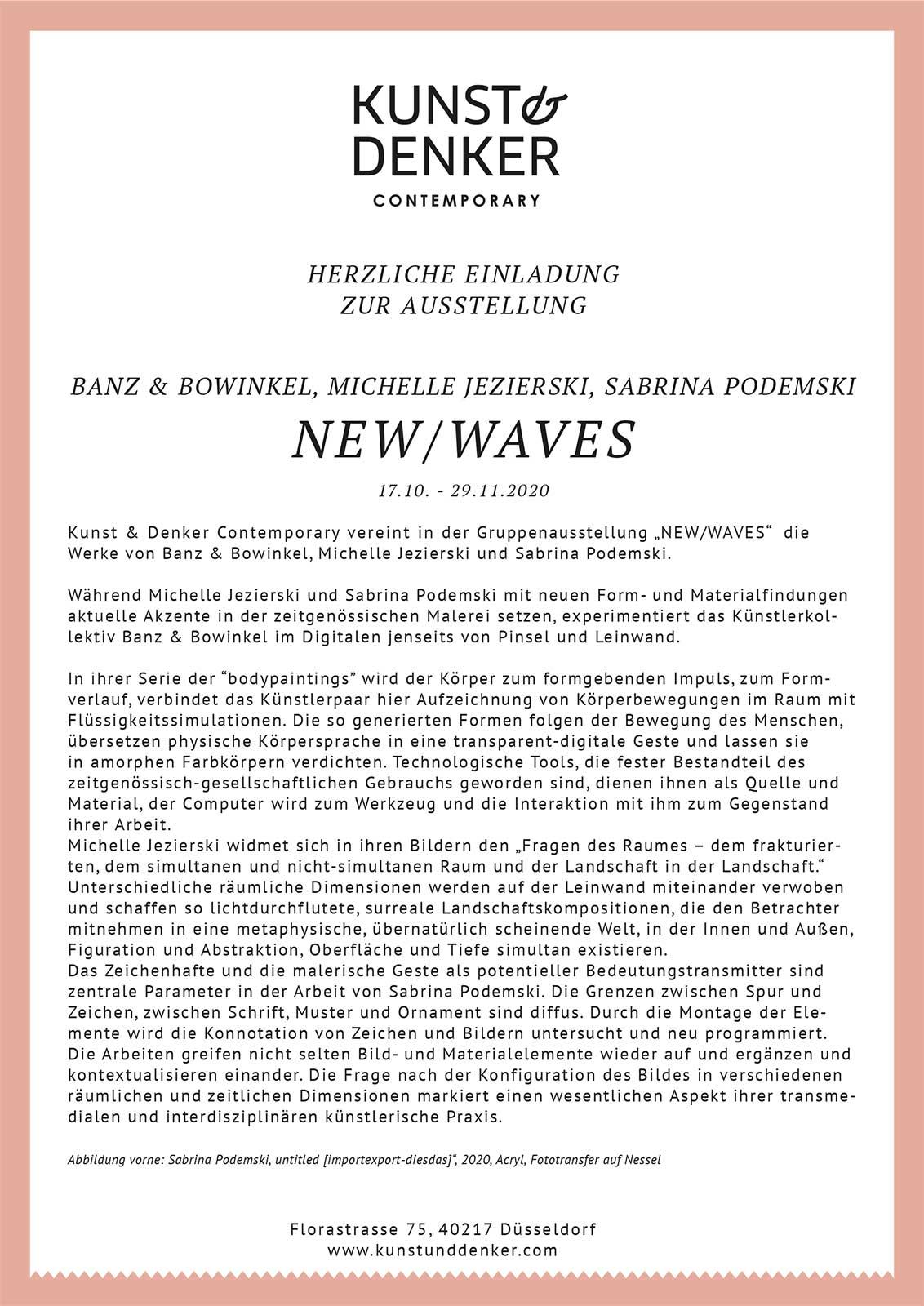 Kunst & Denker New Waves