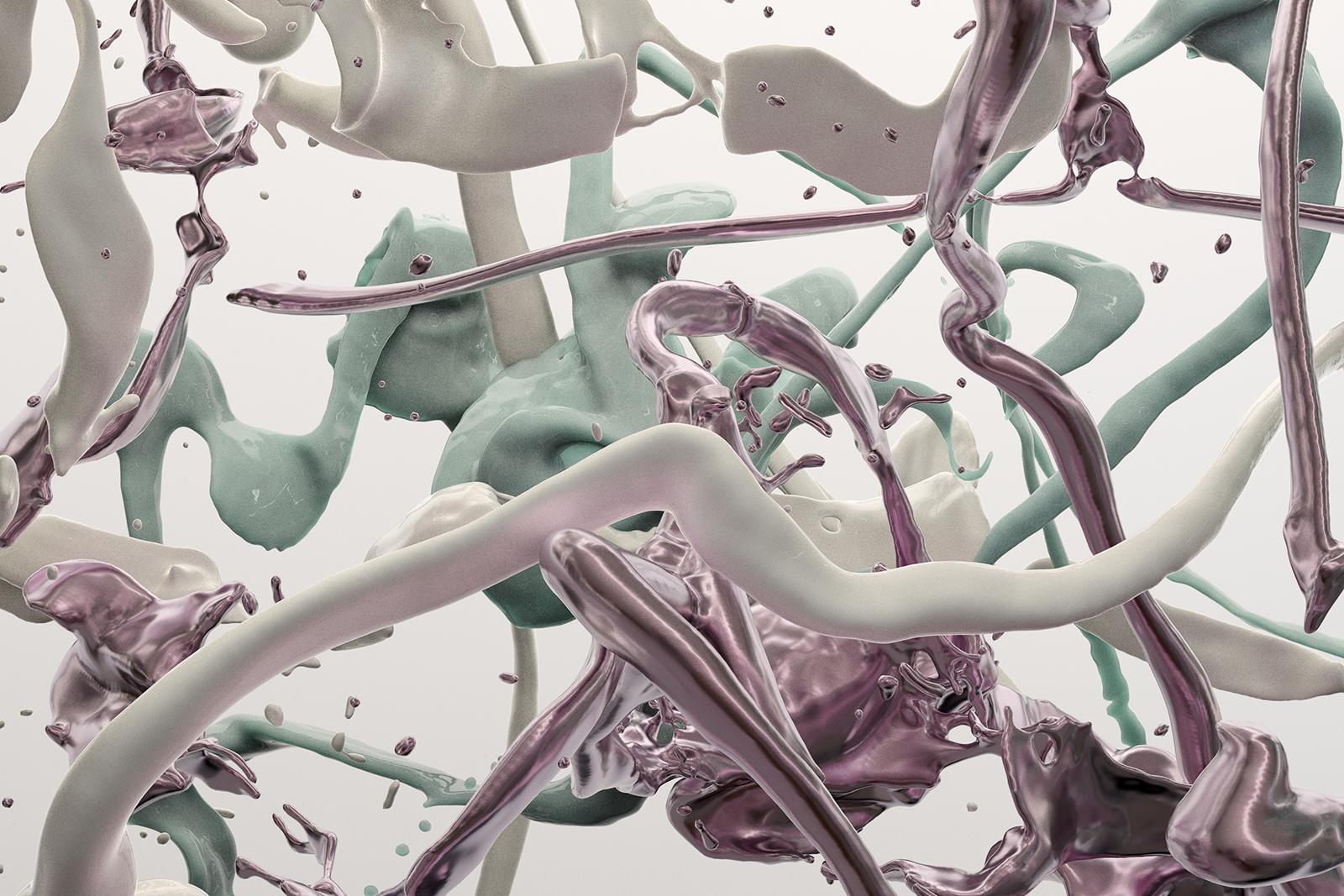 Bodypaint V 25, CGI Fine Art Print, 70 x 105 cm, 2020