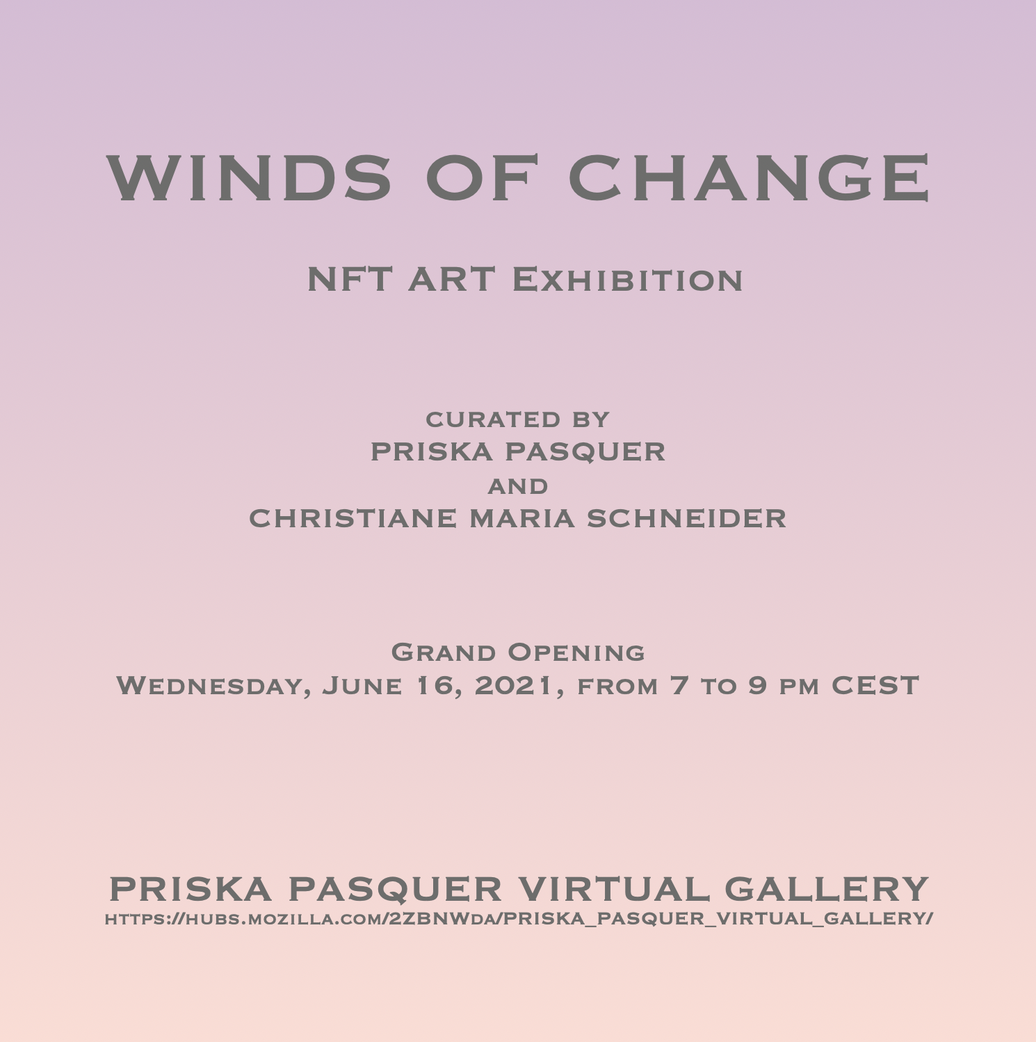Winds Of Change at Priska Pasquer
